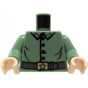 LEGO LOOSE TORSO Sand Green Uniform with Buttons & Belt