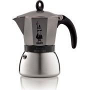 Bialetti 0004823 Macchina Caffè Caffettiera Moka 6 Tazze Colore Grigio - 0004823 Moka Induction Antracite