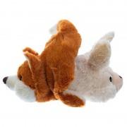 Merkloos Magnetron warmte knuffel konijn en vos 2-in-1 30 cm