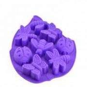 Sütőforma szilikon, lepke-katica lila (12383)