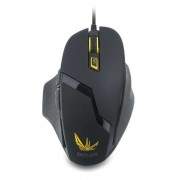 Mouse, Delux DLM-612BU, Gaming, USB, Black (6938820403173)