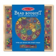 Wooden Deluxe Bead Accessory Creation Set + FREE Melissa & Doug Scratch Art Mini-Pad Bundle [41690]