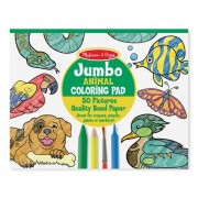 Melissa & Doug Kreatív játék, Jumbo színező, állatok