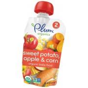 Plum Organics Baby Food - Organic -Sweet Potato Corn and Apple - Stage 2 - 6 Months and Up - 3.5 .oz