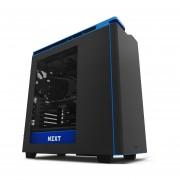 Gabinete NZXT H440 Negro/Azul 4 Ventiladores USB 3.0 Acero Acrilico (CA-H442W-M4)-Negro