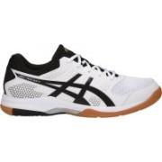Asics Gel-Rocket Badminton Shoes For Men(White, Black, Silver)