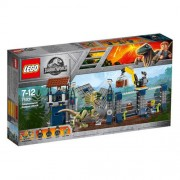Set de constructie LEGO Jurassic World Atacul avanpostului cu Dilophosaurus