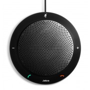 Jabra SPEAK™ 410 MS Speakerphone for UC, USB Conference solution, 360-degree-microphone, Plug&Play, mute and volume button, Wideband, Microsoft optimized Version B: incl. Smart Button activated via Ja