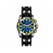Invicta Watches Invicta Men's Pro Diver Black Polyurethane Band Steel Case Quartz Blue Dial Analog Watch 22339 BlueBlack Steel