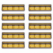 17 Rod Yellow Abacus-Set of 10