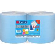 Set 2 role prosop hartie FORMULA 3 straturi un strat albastru 2 straturi albe 138 m/rola 100 celuloza pura avizata pentru contact cu