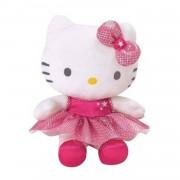Jemini hello kitty knuffel danseres pluche meisjes roze 15 cm