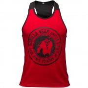 Gorilla Wear Roswell Tank Top - Rood/Zwart - 3XL