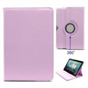 Capa Rotativa em Pele - Samsung Galaxy Tab 2 10.1 P5100, P7500 - Rosa