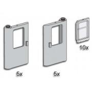 Lego Bulk Gray Train Doors with Panes 3735