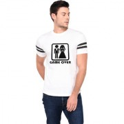 TRENDS TOWER Half Sleeve Round Neck Mens T-Shirt White Color Game Over Graphics Print