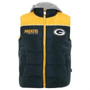 NFL Chaleco NFL Green Bay Packers Infantil con Capucha. - - Verde+Amarillo