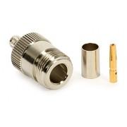 N csatlakozó aljzat Tri-Lan 240/H-155 kábelre crimp 6Ghz-ig