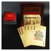 Creative Frosted Golden Dolar Textura De Plástico De Las Vegas A Macao Naipes De Poker Texas Con Caja De Regalo