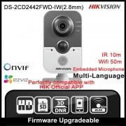 Hikvision DS-2CD2442FWD-IW(2.8mm) Original English Version IP Camera 4MP Support POE WIFI Mini Camera IP Camera P2P Onvif HD