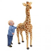 96CM Big Plush Giraffe Toy Doll Giant Large Stuffed Animals Soft Doll kids Gifts