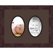 ArtToFrames Art to Frames Double-Multimat-439-776/89-FRBW26061 Collage Frame Photo Mat Double Mat with 2 4x6 Openings and Espresso frame