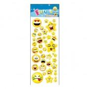 Merkloos Stickervel smileys