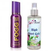 Fogg Paradise Fragrant Body Spray for Women 100ml and Pink Root High Street Gals Fragrance body Spray 200ml Pack of 2