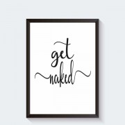Get Naked badkamer decoratieposter
