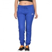 Be You Women Solid Royal Blue Joggers