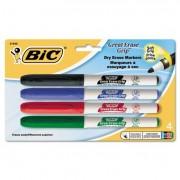 Great Erase Grip Fine Point Dry Erase Marker, Assorted, 4/set