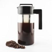 InstaCuppa Cold Brew Coffee Maker   Iced Tea Pot   Fruit Infuser Pitcher 1300ml, Premium BPA Free TritanJar, Fine Mesh Filter Infusion Unit 13 Cups Coffee Maker(Black)