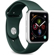 PURO ICON Apple a Watch Band - sport elastice Apple a ceas 42/44 mm (S / M & M / L) (verde închis)