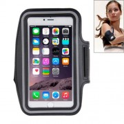 Sport Armband Case with Earphone Hole and Key Pocket for iPhone 6 Plus (Black)