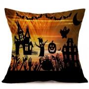 Halloween Decoration Pattern Car Sofa Pillowcase with Decorative Head Restraints Home Sofa Pillowcase C Size:43*43cm -HC3203C