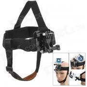 miniisw m-hf cinta para la cabeza ajustable de montaje para GoPro / SJ4000 - negro