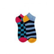 Soxytoes Multi-Coloured Cotton Ankle Length Pack of 2 Pairs Unisex Casual Socks (SOSN0123)