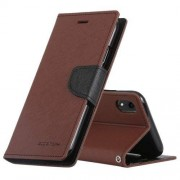 Mercury Pouzdro / kryt pro iPhone XR - Mercury, Fancy Diary Brown/Black