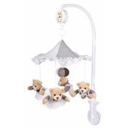 Carusel muzical din plus Ursuleti sub umbrela