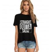 Tricou dama negru - Straight Outta Salaj