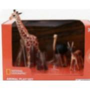 Set 4 figurine - Girafa Elefantel Strut si Antilopa NTM02001