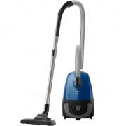 Aspirator cu sac Philips PowerGo FC8245/09, 750 W, Eticheta Energetica AAA, Filtru Antialergic, Tub Telescopic, Albastru