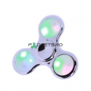 Fidget Spinner Led Metallic Silver