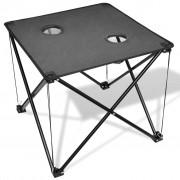 vidaXL Foldable Camping Table Grey