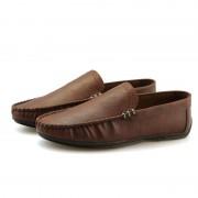 Retro mode ronde hoofdlicht gewicht en comfortabele casual schoenen voor mannen (kleur: bruin maat: 41)