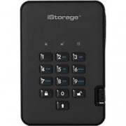 iStorage 500 GB Portable Encrypted Hard Drive diskAshur 2 USB 3.0 Phantom Black