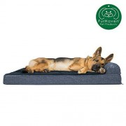 Furhaven Pet FurHaven Deluxe Orthopedic Chaise Dog Couch Pet Bed for Cats and Dogs, Azul Oscuro