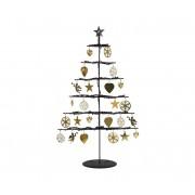 Markslöjd 704162 - Decorațiune de crăciun LED BORKEN 21xLED/0,06W/3xAA brăduț negru