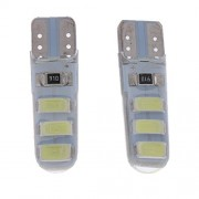 ELECTROPRIME® Pair 3W License Plate Lamp Tail/Dome/Door Turn Signal Light White DC 10-15V