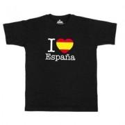 geschenkidee.ch Ländershirt Spanien, Schwarz, L, Mann